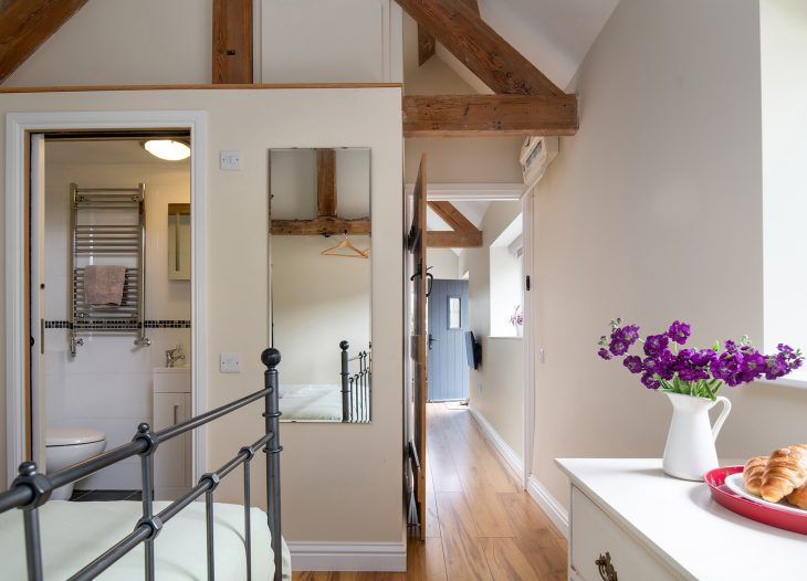 Cow Shed bedroom and ensuite
