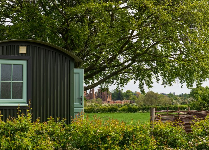 The outside of Grounds Farm shepherds hut